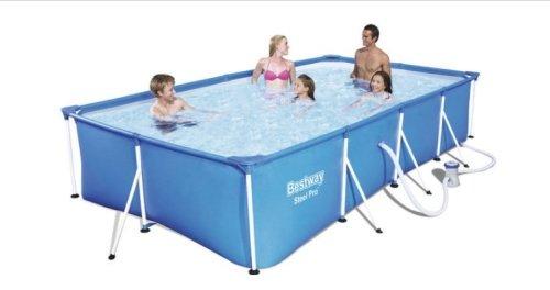 Modrý obdĺžniková bazén