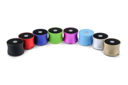 Prenosné bluetooth reproduktory rôznych farieb