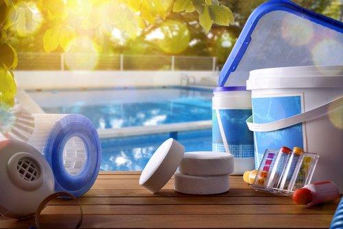 Príslušenstvo a chémia k bazénom