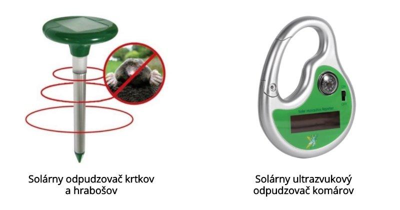 Solárne odpudzovače na krtkov, hrabošov a komáre