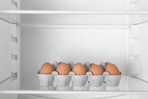 Vajcia v pôvodnom obale v chladničke