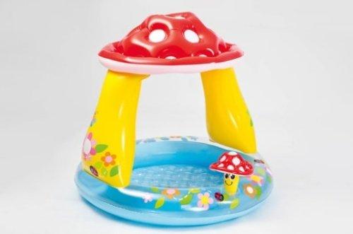 Detský nafukovací farebný bazén so strieškou