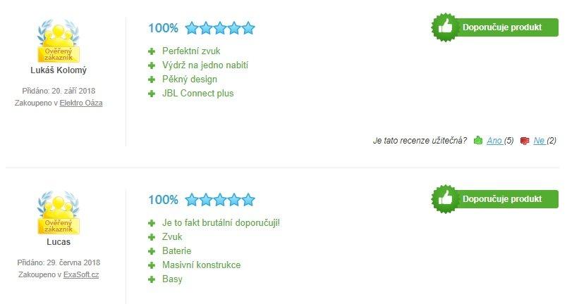 Recenzie zákazníkov na reproduktor JBL EXTREME 2