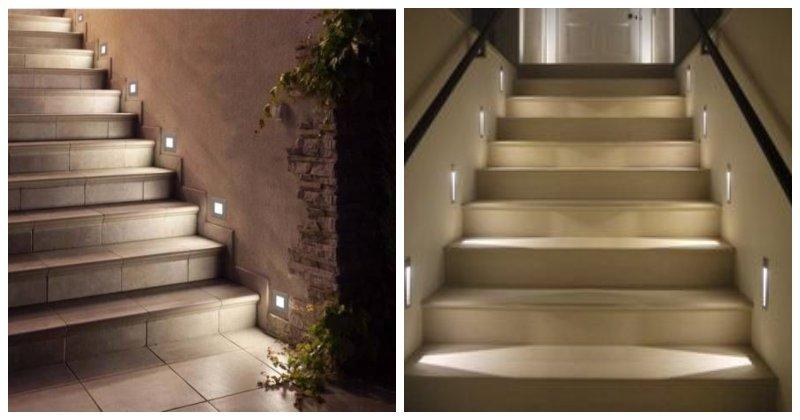 Bodové svetlá na úrovni schodov