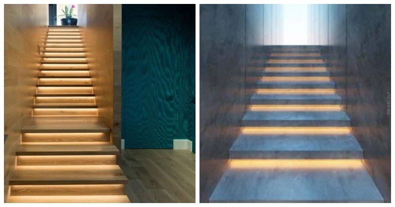 Bodové svetlá pod schodiskom