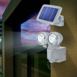 Esotec Solárny PIR senzorový reflektor DUO Power 102415 sivý