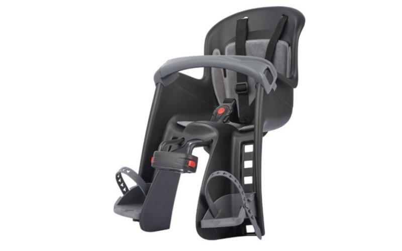 Čierna detská sedačka na bicykel