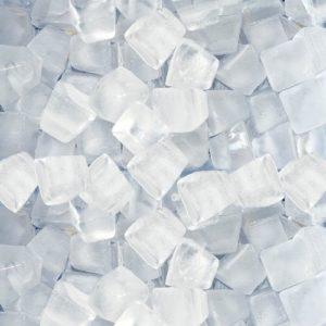 Ľad v tvare kociek