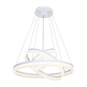 LED Stmievateľný luster na lanku s diaľkovým ovládačom RING LED/114W/230V