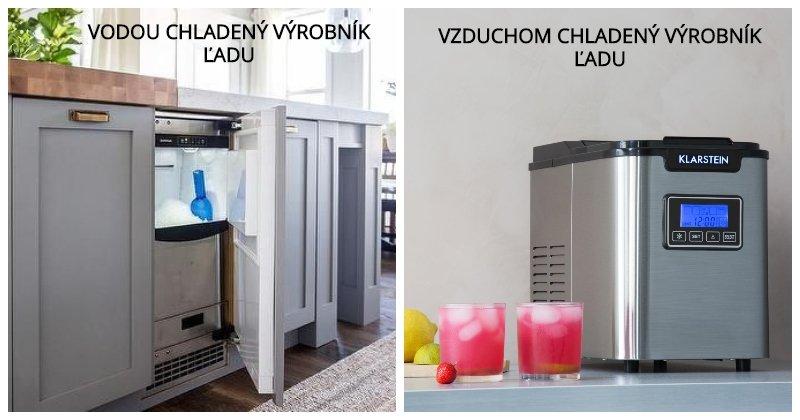 Vodou chladený a vzduchom chladený výrobník ľadu