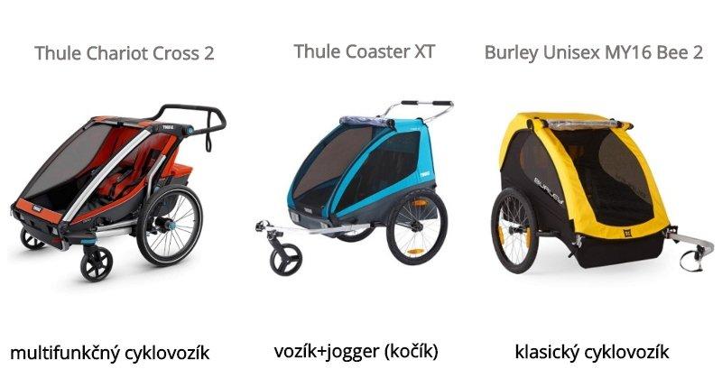 Multifunkčný cyklovozík, vozík+jogger, klasický cyklovozík