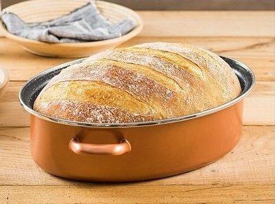 Chlieb v oválnom pekáči Delimano Stone Legend CopperLux