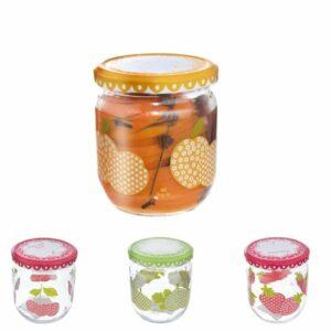 Orion Sada zaváracích pohárov s viečkom Sweet 425 ml, 4 ks, mix farieb