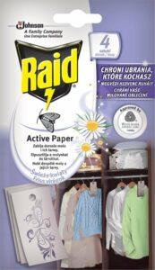 RAID proti moliam aktívny záves čerstvé kvety 4 ks – Odpudzovač hmyzu | Alza.sk