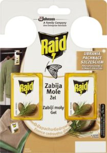 RAID proti moliam s vôňou cédra 2 ks – Odpudzovač hmyzu   Alza.sk