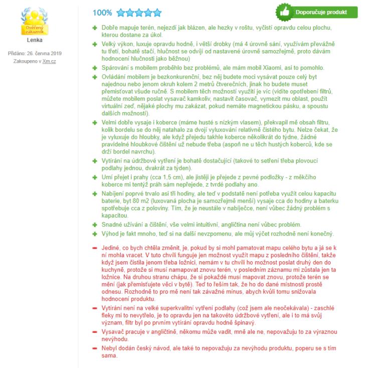 recenzia xiaomi roborock sweep one s50