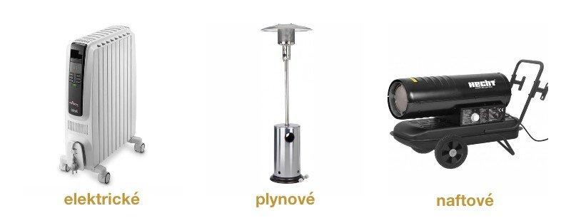 ohrievač - elektrický, plynový, naftový