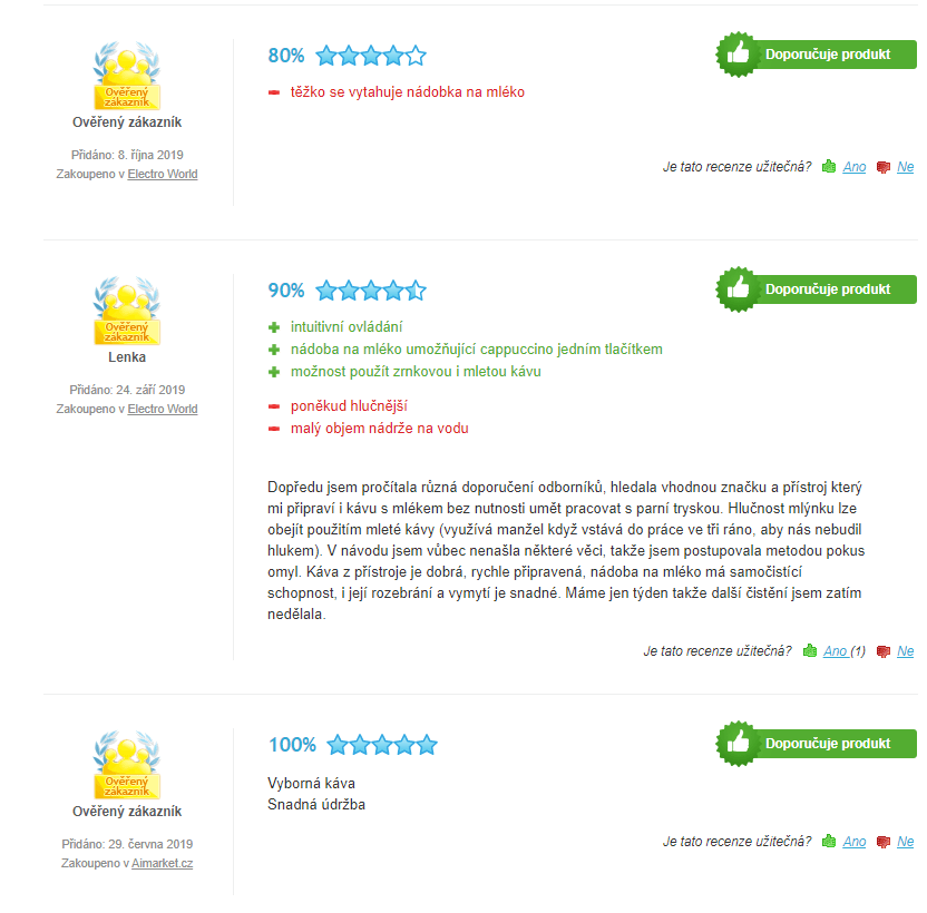 Kávovar Philips Saeco ep3550 recenzie