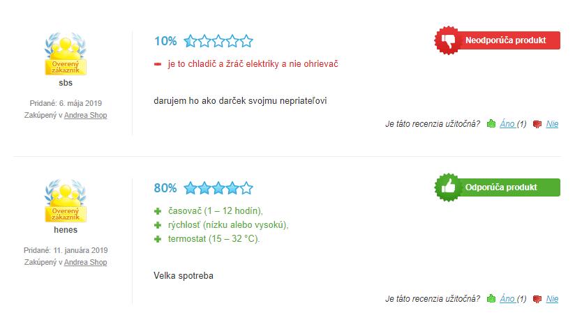 recenzie na osobný ohrievač Rovus