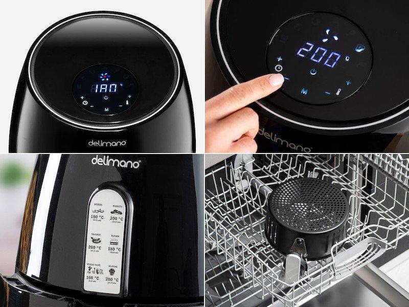 Delimano Deluxe - digitálne ovládanie, umývanie v umývačke riadu