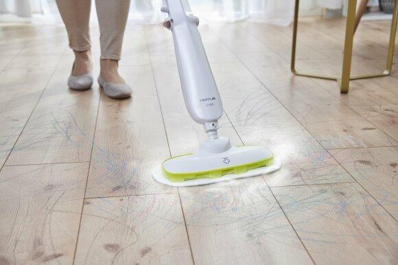 parný mop Rovus Nano použitie, podlaha