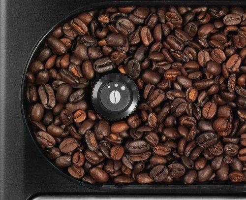 Kávové zrná v mlynčeku v kávovare Krups EA 815E Espresseria Auto Pisa S line