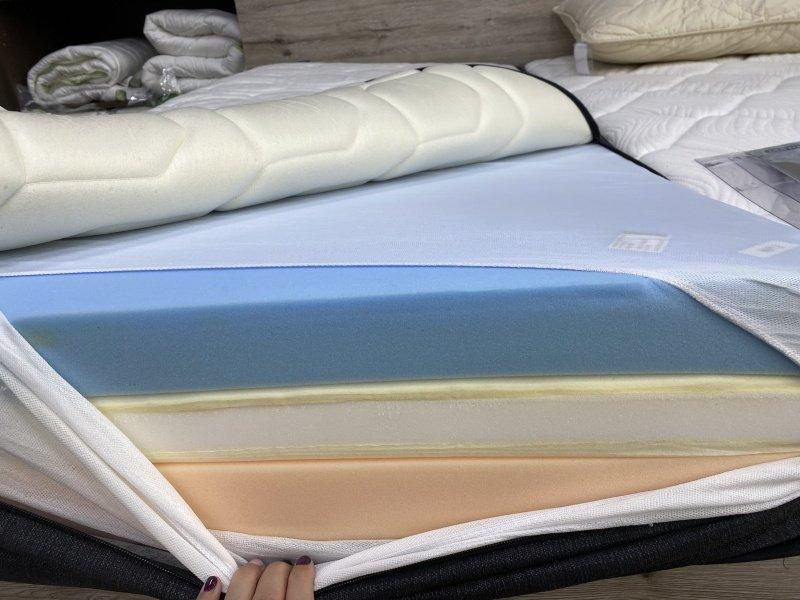 Jednotlivé farebné vrstvy matraca
