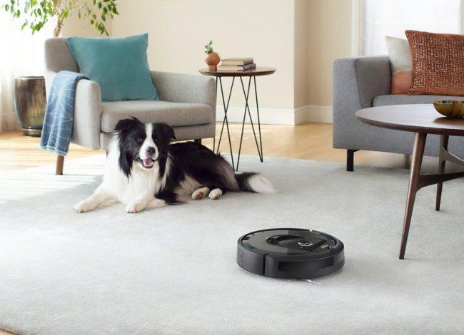 Robotický vysávač a pes