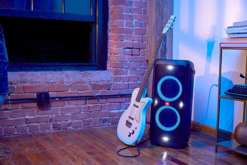 JBL partybox 300 - pripojenie gitary