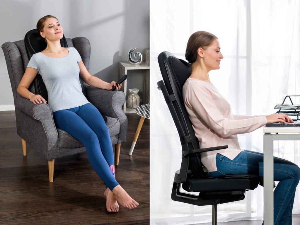Masážna podložka chrbta a nôh Shiatsu 4v1 - použitie