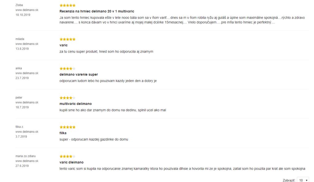 Multivarič Delimano 20 v 1 - recenzie zákazníkov