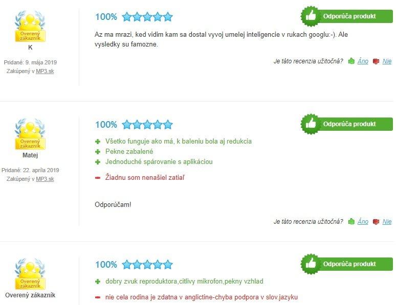 Recenzie zákazníkov na Google Home Mini
