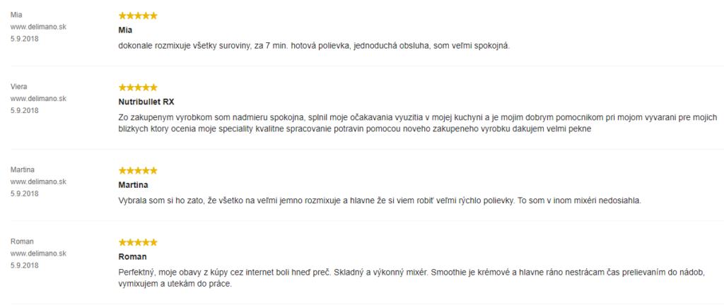 Delimano Nutribullet RX 1700 - hodnotenia zákazníkov