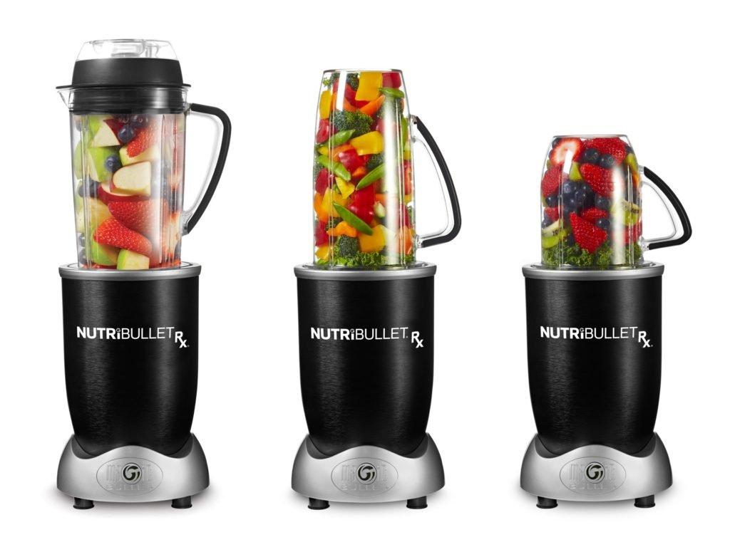 Delimano Nutribullet RX 1700 - rôzne veľkosti nádoby