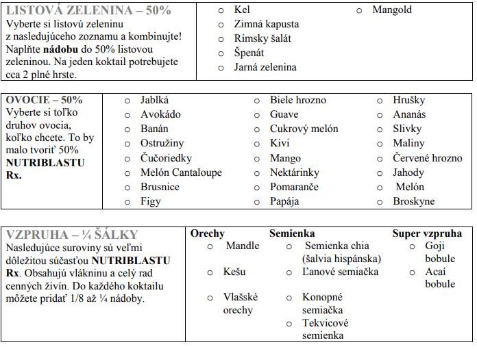 Delimano Nutribullet RX 1700 - recept