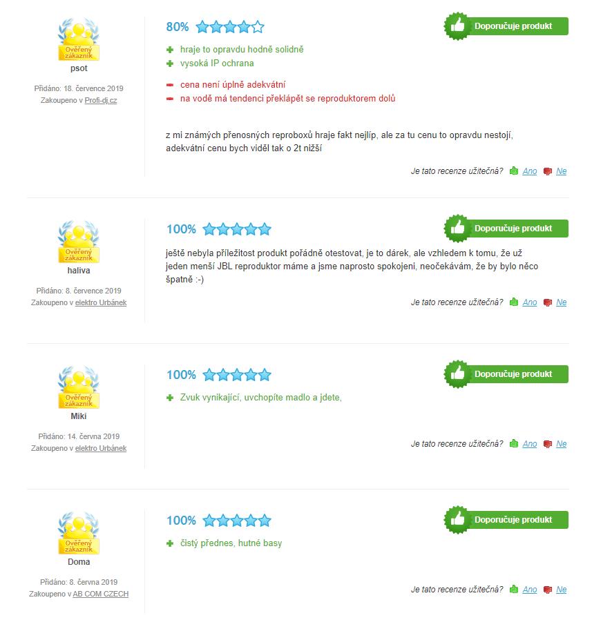 JBL Boombox - hodnotenia zákazníkov