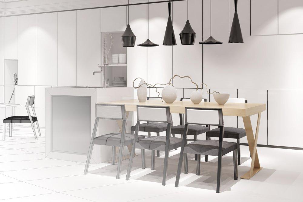 3D vizualizácia kuchyne