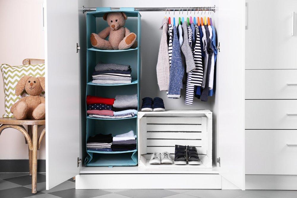 Organizácia vecí v detskej izbe