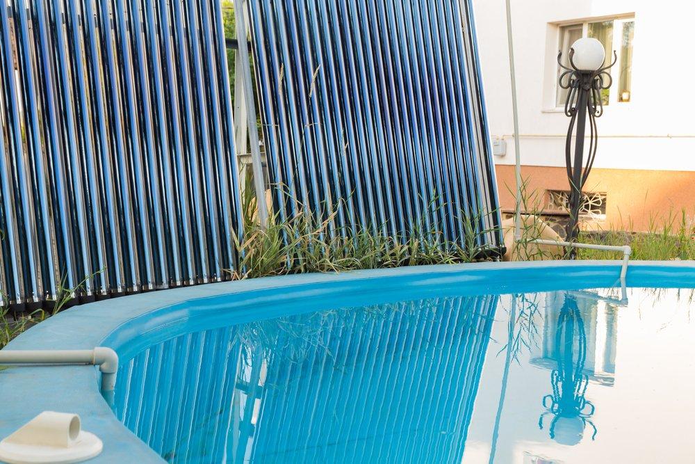 Ohrev vody v bazéne solárnymi kolektormi