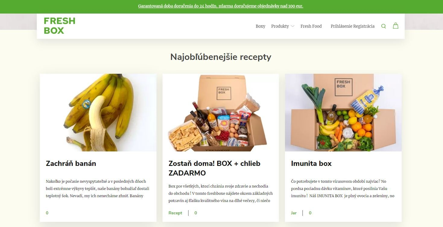 Freshbox - eshop