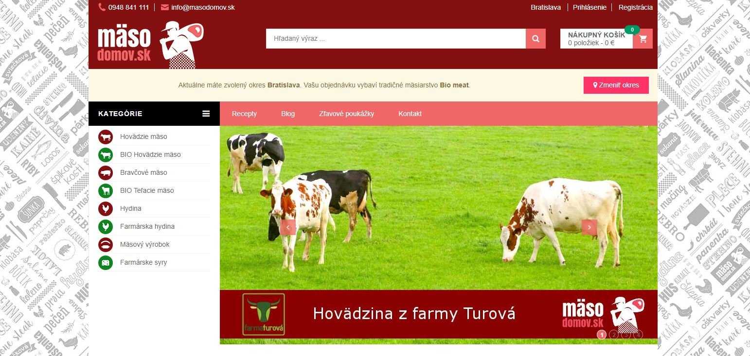 Mäso domov - predaj mäsa, mäsových a živočíšnych produktov