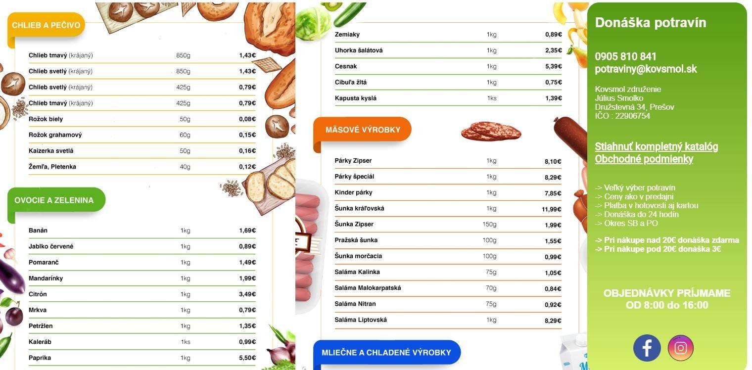 Potraviny Kovsmol - eshop