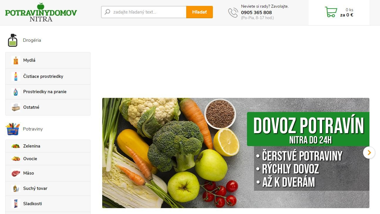 Potravinydomov Nitra - eshop