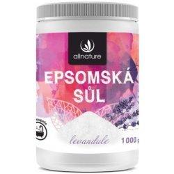 Allnature epsomská soľ Levandule 1000 g