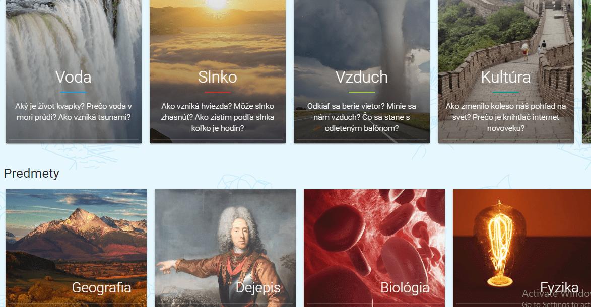 Vzdelávací web Fenomény sveta