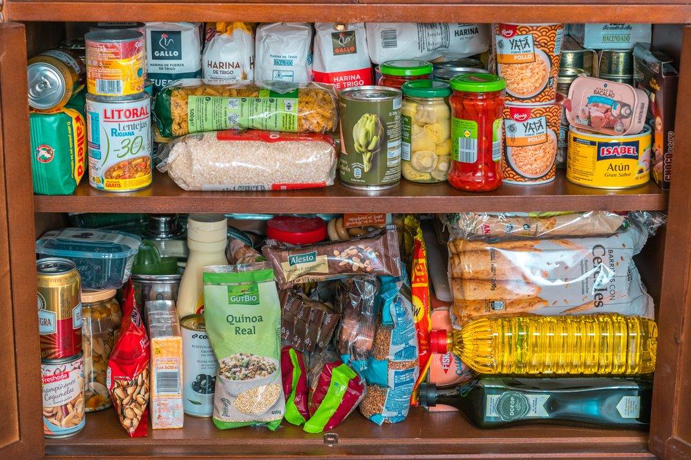 potraviny v komore