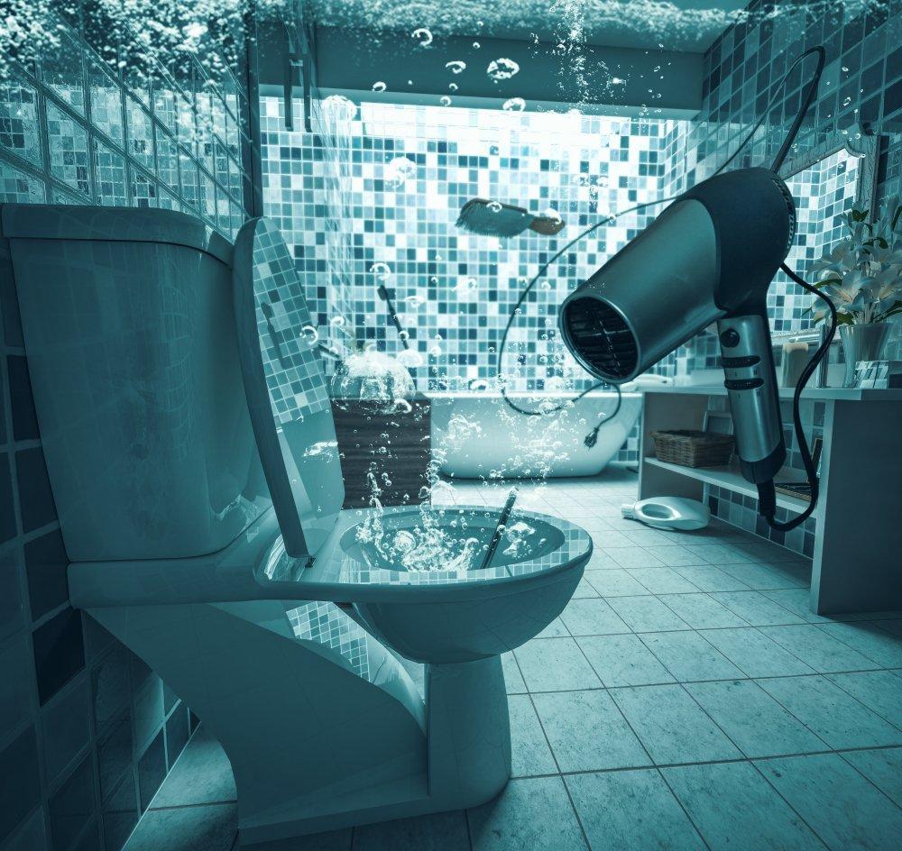 Pretečená toaleta