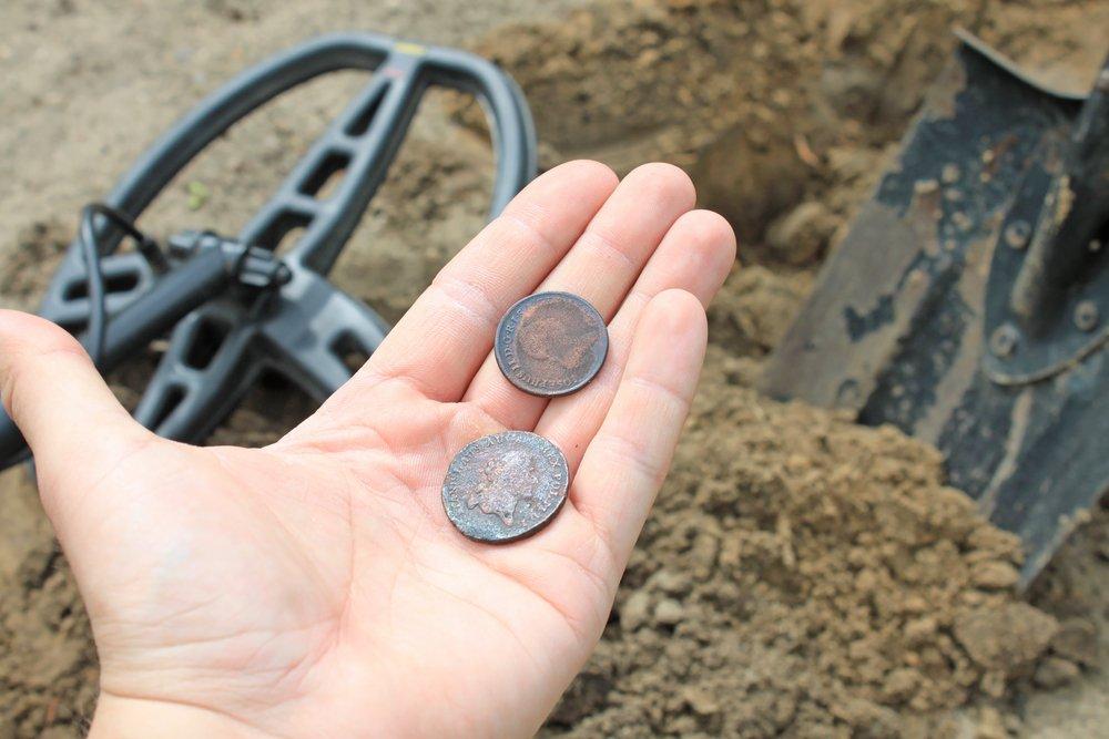 Mince nájdené pomocou hobby detektora kovov