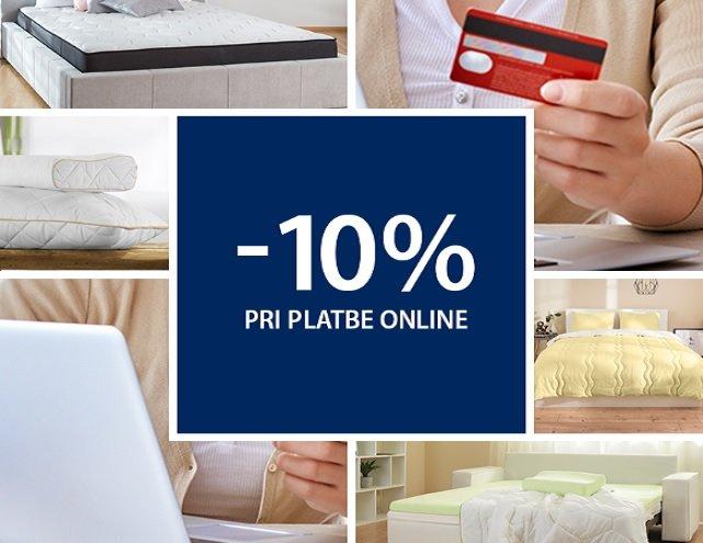 Zľava z nákupu pri platbe online