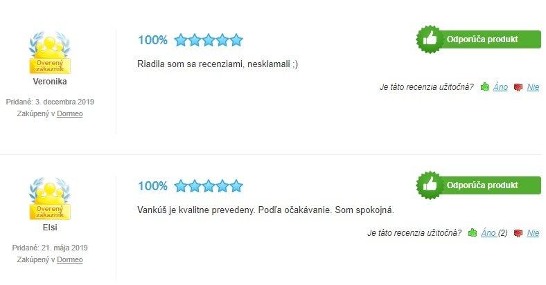 Recenzie zákazníkov na vankúš Dormeo Memosan